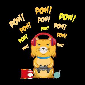 Gamer Cat - Videospiele Gamer Clan Katzen Konsole
