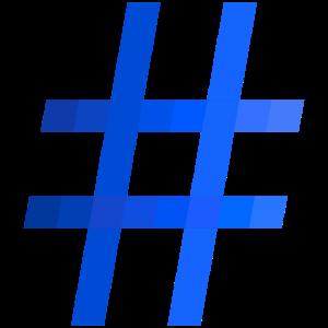 Hashtag blau