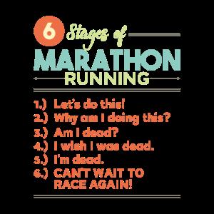Phasen eines Marathon-Laufs T-Shirt Geschenk
