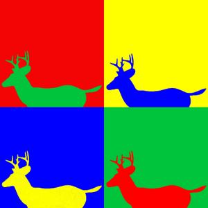 Hirsch PopArt Tiere tierisch Geschenk Geschenkidee