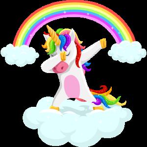Dabbing unicorn geschenk idee einhorn Regenbogen