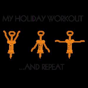 Wein Liebhaber - holiday workout T-Shirt