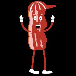 Bacon Burger Man Lustig Grillen BBQ