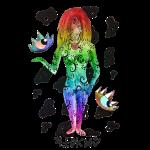 vierge multi-color