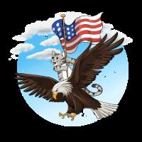 USA, Katzen, Adler, Amerika, Geschenk, Stolz,Katze