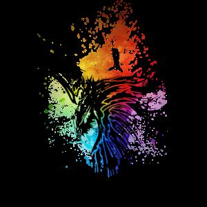 Rabe Regenbogen-Kleckse schwarz