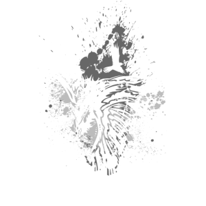 Rabe Kleckse weiß