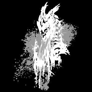 Drache Kleckse weiß