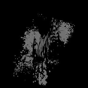 Drache Kleckse schwarz