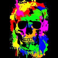 Schädel, Totenkopf, Kunst, Viele Farben, Gothic