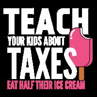 Steuern - Eiscreme - Hälfte - Beibringen