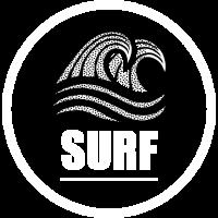 Surf Welle surfen Wellenreiten schwarz-weiß