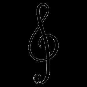 Schwarzer Violinschlüssel | ClareMarie