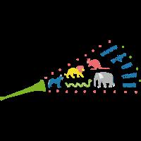 Trompete mit Tiergeräuschen auf Kinderkleidung