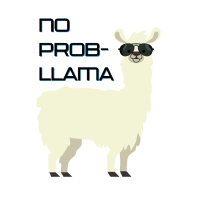 No Prob-llama - lustiges Cartoon-Design