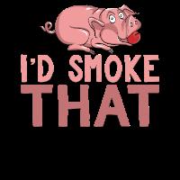 Grillen BBQ Smoker Pulled Pork T-Shirt & Geschenk