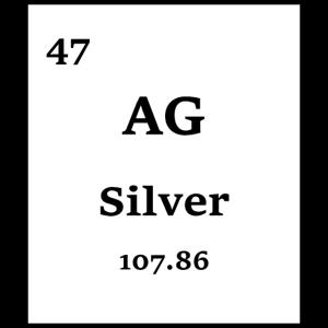 Silver Periodensystem Chemie Wissenschaft