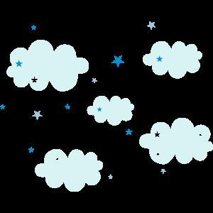 Wolken und Sterne