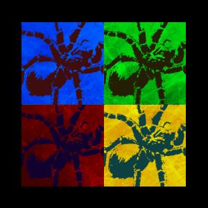 T-Shirt Spinne Pop-Art