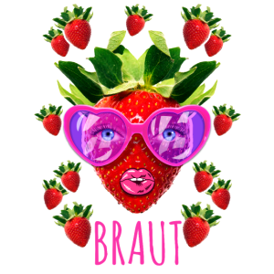 BRAUT Erdbeeren Sonnenbrille Kussmund JGA 09