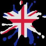 England Union Jack Klecks