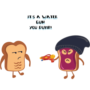 Toastgangster - Wasserpistole - Lustiges Bild
