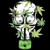 Cannabis Entkerner Gasmaske