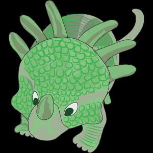 Dinosaurier Styracosaurus Grün