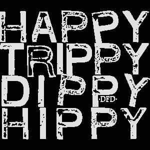 Glückliche Trippy Dippy Hippie