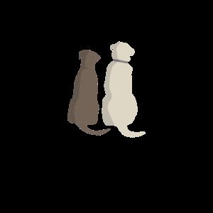 zwei Hunde Freunde / Liebespaar