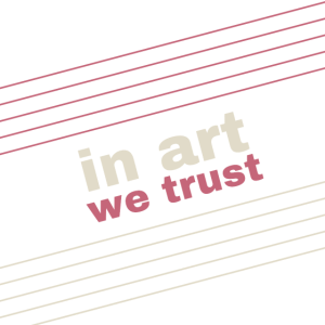 In Art We Trust - rose beige
