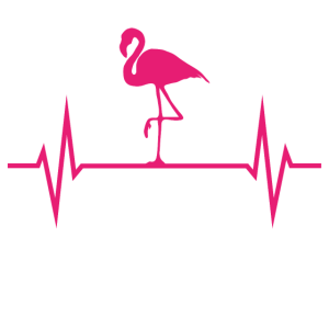 Flamingo Flamingos Fan Heartbeat EKG Pink Geschenk