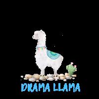 Drama Lama-Aquarell-Druck