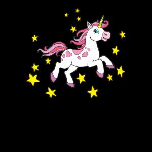 Magisches Einhorn - Einhorn mit Sternen