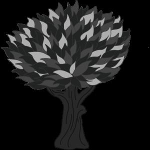 Baum grau