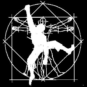 Klettern Vitruvianischer Mensch Boulderer Geschenk