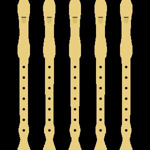 Blockflöten in der Reihe