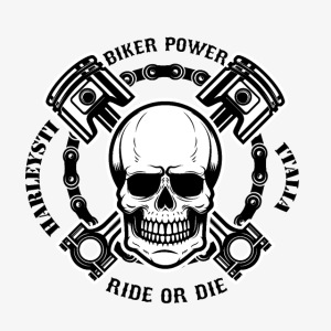 Teschio pistoni maglia bikers