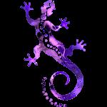 GECKO abstrakt violett