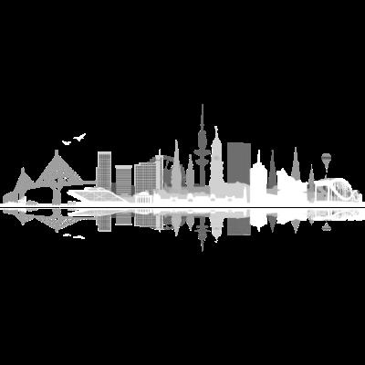 waterkant05hell - Hamburg Skyline auf Deinem Hamburg Shirt.  - urban,stadtbild,stadt,skyline,silhuette,hamburgerin,gebäude,design,city,architektur,altona,Wandsbek,Stadtshirt,St Pauli,Silhouette,Illustration,Harburg,Hansestadt,Hamburger,Hamburg,Geschenk,Eppendorf,Elbe,Eimsbüttel,Barmbek