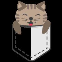 Hemdtasche mit Katze Pocket Cat