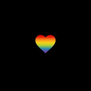 Herzschlag EKG mit Regenbogen Herz LGBT CSD