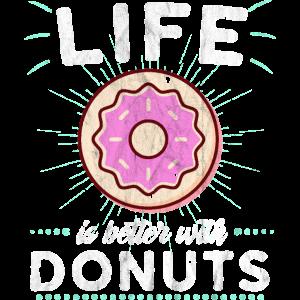 Donut Donuts Geschenk Essen Nachtisch Pink