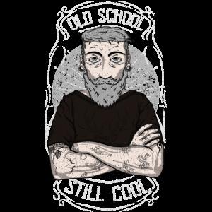 Bart old school - Hipster design - Geschenkidee