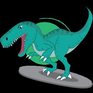 Gefährlicher Tyrannosaurus Rex - Motiv für Kinder