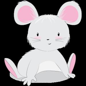 Süßes Mäuse Baby Motiv für Kinder und Babys