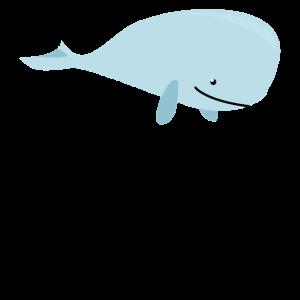Wale Meer Fisch Cartoon Comic Zeichnung Geschenk