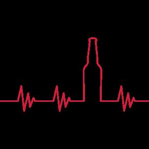 Puls Heartbeat Bier Vektor