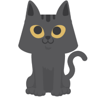 Cat T-Shirt Gray Sitting Cartoon