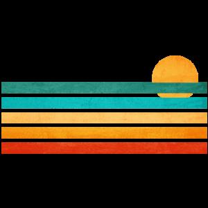 Sommer Meer Linien Illustration